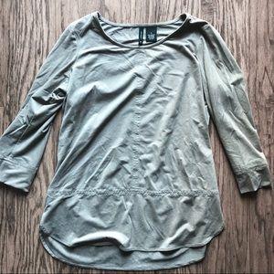 Tops - Brown suede shirt